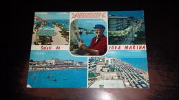C-41822 SALUTI DA IGEA MARINA PANORAMA SPIAGGIA ALBERGHI HOTEL PESCATORE RETI DA PESCA - Rimini
