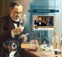 MALDIVES 2015 - Louis Pasteur S/S Official Issue - Louis Pasteur