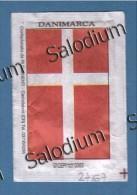 (open 2 Scan) DANIMARCA EGITTO DENMARK EGYPT  - BANDIERA FLAG -  BUSTINA DI ZUCCHERO VUOTA - Sugar Empty - Sugars