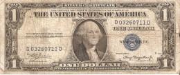 BILLETE DE ESTADOS UNIDOS DE 1 DOLLAR DEL A�O 1935 A SERIE D (BANK NOTE)