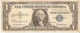 BILLETE DE ESTADOS UNIDOS DE 1 DOLLAR DEL A�O 1957  SERIE V (BANK NOTE)