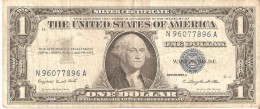 BILLETE DE ESTADOS UNIDOS DE 1 DOLLAR DEL A�O 1957 A SERIE N (BANK NOTE)