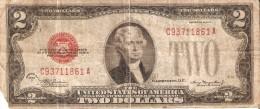 BILLETE DE ESTADOS UNIDOS DE 2 DOLLARS DEL A�O 1928 D SERIE C (BANK NOTE)