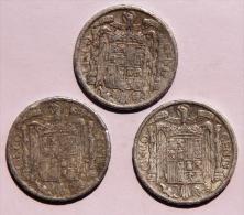 ESPAGNE Lot De 3 Pièces De 5 Cents De 1945 M Les 3 Abimées - 5 Centimos