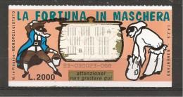 1995 - Gratta E Vinci - LA FORTUNA IN MASCHERA - Biglietti Della Lotteria