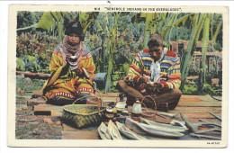 ///   CPA - Amérique - Floride - Florida - Seminole Indians In The EVERGLADES  // - Etats-Unis