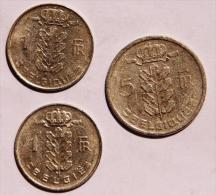 BELGIQUE Lot De 3 Pièces Une De 5 Frs De 1950 Et 2 De 1969 Et 1975 - Non Classificati