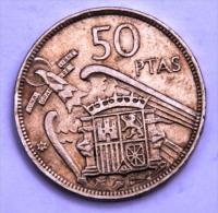 ESPAGNE 50 Pesetas Francisco Franco De 1957 Entre B Et AB - 50 Pesetas