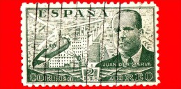 SPAGNA - Usato - 1939 - Juan De La Cierva Y Codorníu - 2 P. Aerea - Usati