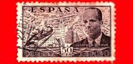 SPAGNA - Usato - 1939 - Juan De La Cierva Y Codorníu - 50 P. Aerea - Usati