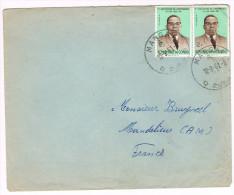 Rép. Du Congo / N° 436 (x2) Sur Lettre ; CàD  De Mangai Du 12-09-1961 - République Du Congo (1960-64)