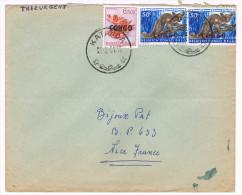 Rép. Du Congo / N° 403 (x2) & 394 Sur Lettre ; CàD De Katanda Du 25-02-1961 - République Du Congo (1960-64)