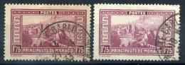 1933 MONACO N.128 + 128A USATI - Monaco