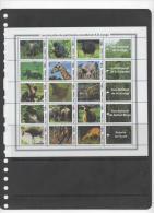 D. R. CONGO ,2005, NATIONAL PARKS, GORILLAS, ELEPHANTS, BONOBOS, GIRAFFES, 6 SHEETLETS, SUPERB! - Gorillas