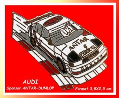 SUPER PIN'S AUDI : La Très Belle AUDI Sponsor ANTAR, DUNLOP En Bel émail Grand Feu Base Or - Audi