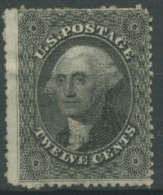 USA 1857 George Washington 12 II Ungebraucht Ohne Gummierung - Ungebraucht