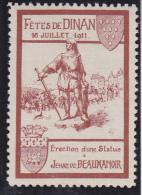 DINAN - FETES DE DINAN  16 JUILLET 1911 - Commemorative Labels