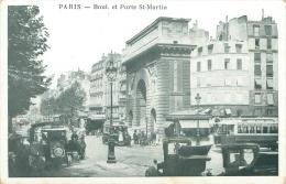 75 - PARIS - Boul. Et Porte St-Martin - Transport Urbain En Surface