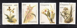 GUYANA - 1987- REICHENBACHIA ORCHIDS SET OF 4 ( 22ND SERIES) MINT NEVER HINGED - Guyana (1966-...)