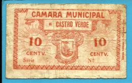 CASTRO VERDE - CÉDULA De 10 CENTAVOS - ND - M. A. 658.d - Escassa - PORTUGAL - EMERGENCY PAPER MONEY - NOTGELD - Portugal