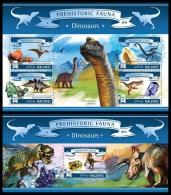 mld15701ab Maldives 2015 Dinosaurs  2 s/s