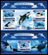 mld15703ab Maldives 2015 Orcas Dolphins  2 s/s