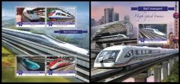 mld15806ab Maldives 2015 High-speed trains 2 s/s