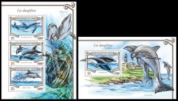 nig15305ab Niger 2015 Dolphins 2 s/s
