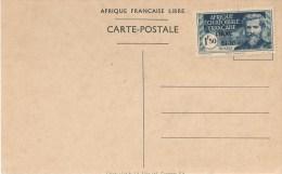 Brazaville (A.E.F) -visite Du Général De GAULLE Avec Timbres Surchargé  LIBRE  24/10/1940 - Covers & Documents