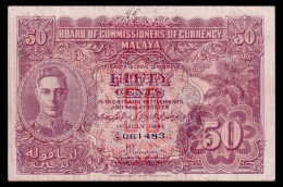 Malaya 50 Cents 1941 VF- - Other - Asia