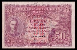 Malaya 50 Cents 1941 VF- - Banknotes