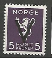 NORVEGE  N�  235V NEUF* TRACE DE CHARNIERE / MH