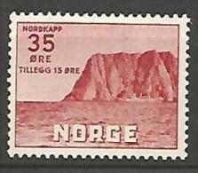 NORVEGE  N�  374 NEUF* TRACE DE CHARNIERE / MH
