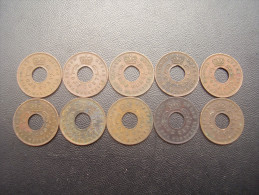 BRITISH EAST AFRICA  KUT ONE CENT COINS BRONZE Of 1962 - TEN All The SAME USED (H) Mint Mark.. - British Colony