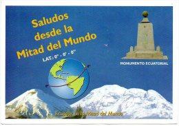 Ecuador Midden Van Wereld Middle Of The World Landkaart Carte Géographique Géograhic Card Geografische Karte - Equateur