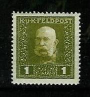 �sterreich 1915: �sterr.-ung. Feldpost,  Kaiser Franz Josef I.,Mi.-Nr. 22 A  **
