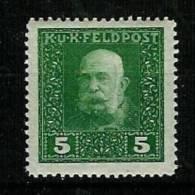 �sterreich 1915: �sterr.-ung. Feldpost,  Kaiser Franz Josef I.,Mi.-Nr. 25 A  **