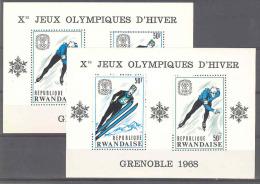 COB BL10/10A Olymp Spelen-Jeux Olymp Grenobles 1968 MNH-postfris-neuf - Rwanda