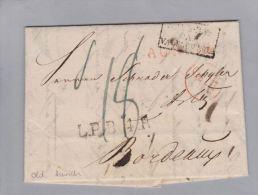Oldenburg Aurich 1823-09-06 Brief > Bordeaux L.P.B.4 R - Oldenburg