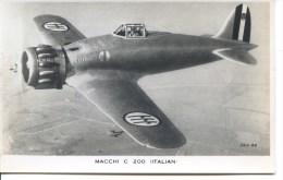 AVIATION - MACCHI C 200 ITALIAN RP Ap29 - 1939-1945: 2ème Guerre
