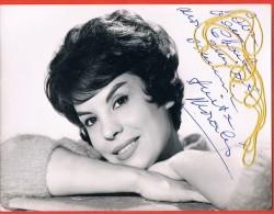 PHOTOGRAPHIE Grand Format 18/24 Cm Avec Autographe  Manuscrite D´ ANITA MORALES  Années 1970 Scans Recto-verso - Autographs