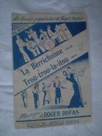 """PARTITION """"LA BERRICHONNE"""" """"TROU TROU LA ITOU    ROGER DUFAS - Partitions Musicales Anciennes"""