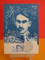 FDC Carte Maxi - Louis Pergaud - 25 Belmont, Vercel Villedieu - 23.1.1982 - 1er Jour, Coté .. € - Maximumkaarten