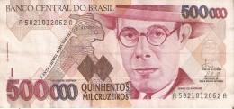 BILLETE DE BRASIL DE 500000 CRUZEIROS  (BANKNOTE) MARIO DE ANDRADE - Brasilien