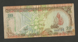 MALDIVES  - MALDIVES MONETARY AUTHORITY - 10 RUFYAAS (1998) - Maldive