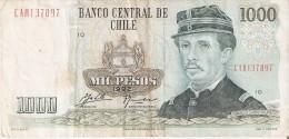 BILLETE DE CHILE DE 1000 PESOS DEL AÑO 1992  (BANK NOTE) - Chile
