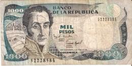 BILLETE DE COLOMBIA DE 1000 PESOS DEL AÑO 1994  (BANKNOTE) - Colombia