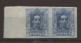 1922-1930 Alfonso XIII TIPO VAQUER Edifil 319s PAREJA VC 130,00€ - BORDE HOJA - 1931-50 Nuevos & Fijasellos