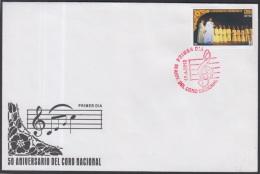 2010-FDC-40 CUBA. FDC. 2010. 50 ANIV DEL CORO NACIONAL. MUSICA. MUSIC. RED CANCEL. RARE - FDC