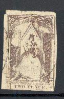 VICTORIA, 1850s 2d Queen On Throne (tear+thin) - 1850-1912 Victoria
